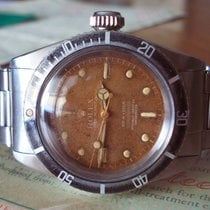 Rolex Submariner 6538 BIG CROWN TROPICAL SWISS 4-liner dial 1958