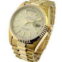 Rolex Used 18038_used Mens Yellow Gold Single Quick President...