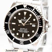 Rolex Sea Dweller Stahl Uhr 16600 von 2015 Papiere Kasten