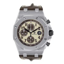Audemars Piguet AP Royal Oak Offshore Chronograph Steel Ivory...