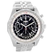 Breitling Bentley Motors T Black Dial Mens Steel Watch A25363