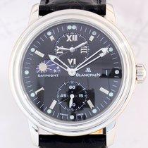 Blancpain Leman Dual Time Day-Night black dial Steel Dresswatch