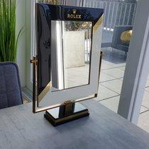 Rolex Original heavy Dealer Display Mirror Spiegel Messing...