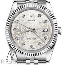Rolex Authentic 26mm Rolex Datejust Diamond Dial W Silver...