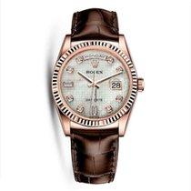 Rolex 118135 Perpetual Day-Date 18K Everose Gold Unisex Watch