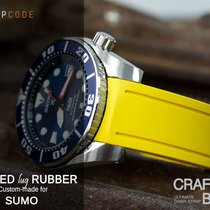 Crafter Blue Watch Band for Seiko Sumo, Yellow