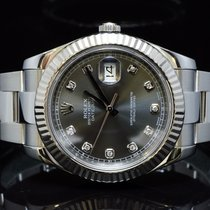 Rolex 2014 Datejust II, Rhodium Diamond Dot Dial, Box &...