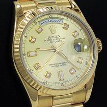 Ρολεξ (Rolex) President Day-date 18238 18k Yellow Gold Diamond...