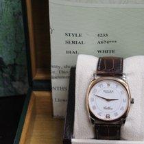 Rolex Cellini Danaos 4233 18k Rose Gold & 18k White Gold