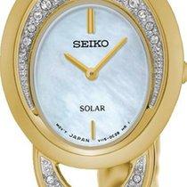 Seiko Solar SUP298P1 Elegante Damenuhr Mit Kristallsteinen