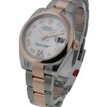 Rolex Unworn 178241mdro Mid Size 2-Tone Rose Gold with Oyster...