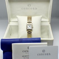 Concord La Tour Ladies 14K Yellow Gold & Diamond Watch Box...