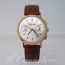 Wyler Vetta Chronograph Incaflex Valjoux 23 Gold Rare 9730