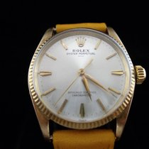 Rolex Oyster Perpetual in 14K solid gold ref 6551 and caliber...