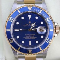 Rolex Submariner Two Tone Gold Stainless Steel Blue On Blue...