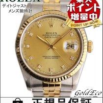 Rolex 【ロレックス】デイトジャスト 16233G メンズ腕時計自動巻き AT ダイヤインデックス日付け表示...