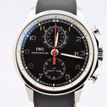 IWC Portuguese Yacht Club Chronograph Black Dial Iw390210...