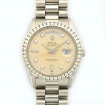 Rolex Day-Date President Platinum Diamond Bezel Watch