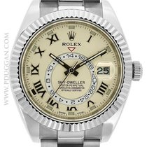 Rolex 18k White Gold Sky-Dweller