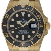 Rolex : Submariner Date :  116618LN :  18k Gold : black dial :...