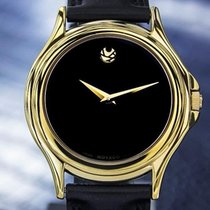 Movado Museum Rare Men's Swiss Gold-Plated Luxury Dress...