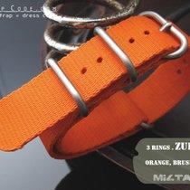 MiLTAT Thick 21mm ZULU Watch Strap, Matte Orange, B