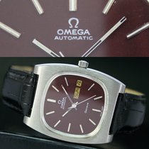 Omega Geneve Automatic Quick Day Date Steel Mens Watch 166.0190