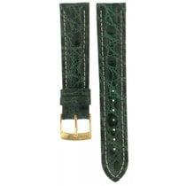 Bros Genuine Crocodile Green Leather Strap 20mm