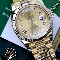 Rolex Day-date 40mm President 228238 Unisex 18k Yellow Gold...