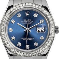 Rolex 41mm Datejust II Stainless Steel 116334 Custom Blue...