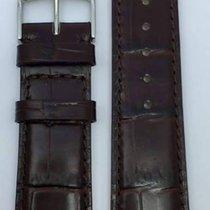 Kaufmann Krokodil Grain Classic Lederband dunkelbraun 20/18mm...