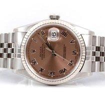Rolex Mens 16234 Datejust - Salmon Roman Dial - Jubilee Band