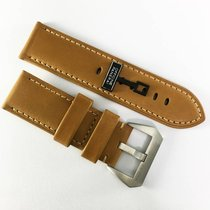 Panerai 26 / 26mm beige calf leather strap with pin buckle NEW