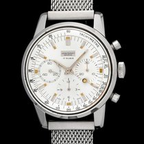 Jean Perret vintage big chrono Valojoux 72, albino dial, mint...