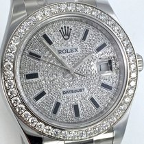 Rolex DATEJUST II Pavee Dial Brillant Lünette