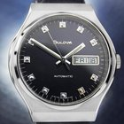 Bulova Mens Rare Vintage 1970s Automatic Swiss Made Stainless...