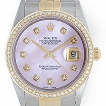 Rolex Datejust Men's 2-Tone Steel & Gold Watch Pink...