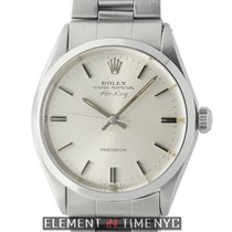 Rolex Air-King Precision Steel 34mm Silver T Swiss Dial Circa...