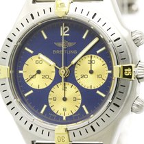 Breitling Polished Breitling Callisto 18k Gold Steel Automatic...
