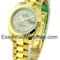 Rolex Unworn 179178_rhodium_roman Ladys Yellow Gold DateJust...