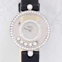Chopard Happy 1,18 ct Diamonds 18K Weißgold Lady Quarz Luxus