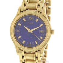 Piaget Polo 18K Yellow Gold Lapis Dial Watch