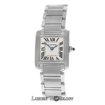 Cartier Authentic Ladies  Tank Francaise 2300 Stainless Steel