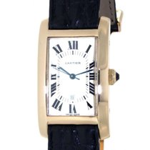 Cartier Tank Usa 8172984 Yellow Gold, Leather, 24x40mm