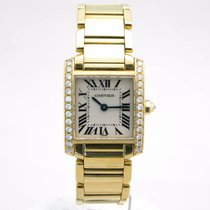 Cartier Tank Française 18k Gold Diamond Set