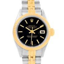 Rolex Datejust Steel Yellow Gold Black Dial 26mm Ladies Watch...