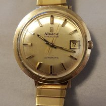 Nivada Rare Vintage Nivada Grenchen Automatic Gold Plated...