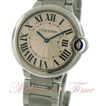 Cartier Ballon Bleu Medium, Silver Dial - Stainless Steel on...