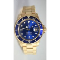 Rolex Submariner 16618 18K Yellow Gold Blue Dial and Bezel...