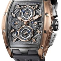 Cvstos Chrono II Challenge Men's Watch, Titanium with Red...